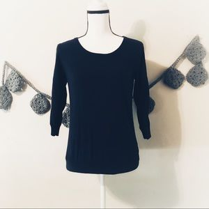Lauren Conrad Lace Navy Blue Sweater - S